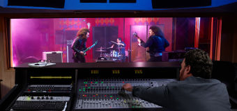 Guardian Glass North America sound control glass - band playing in music studio