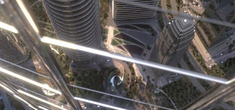 Guradian Glass North America Solar control glass - aeriel view of glass on tall building