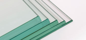 Guardian Glass North America - 4 float glass samples stacked