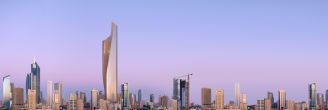 Guardian Glass - SunGuard Silver 20 - Burj Khalifa exterior skyline at dusk