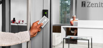 Guardian Glass - Safety & security - keycard entry at office