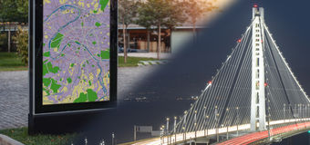 Guardian Glass: Public information display and large-scale bridge lighting project