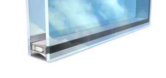 Insulated glass created by a spacer