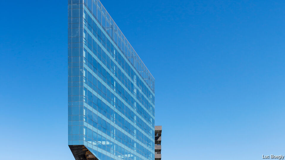 SunGuard Spandrel HT glass on BNL - BNP Paribas Headquarters, Rome, Italy