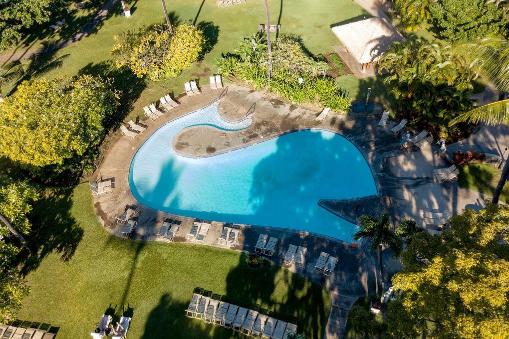 Ka Anapali Beach Hotel Aerial View Of Kaanapali Beach