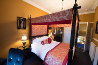 Double Room Red Ensuite with Four-Poster Bed