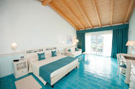 Double Sea View Room with Blue Floor
