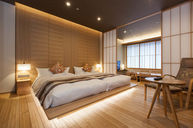 Japanese Modern Special Room with Hot Spring (Wooden Bath)