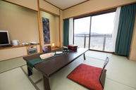 Japanese Room with Tatami and Mt. Fuji View