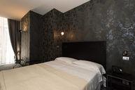 Standard Room with Dark Wallpaper
