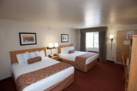 Motel Double Queen Room with Lobby Access