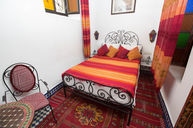 Orange Bedroom with Bathroom