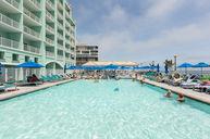 Pool with bar
