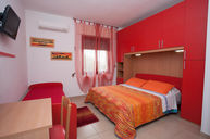 Red Three Bed Room