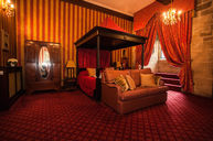 Room (Red-Black Four Poster Bed)
