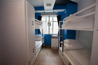 Four-Bed Dorm with Shared Bathroom