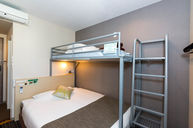 Room with Double Bed and Bunk Bed