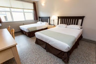 Two Double Beds with Separate Bathroom