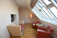 Suite with Skylight TV Room