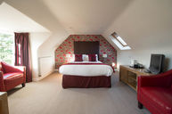 Deluxe Red Room with Skylight