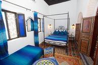 Blue Bedroom with Bathroom