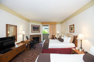 Double Queen Room with Fireplace and Garden Terrace