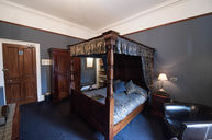 Double Room Blue with Canopy Bed