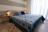 Double Room with Light Blue Accents
