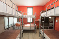 Female Room with Six Beds and Private Bathroom
