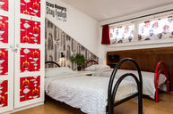 Four-Beds Mixed Dormitory Room with terrace and shared bathroom