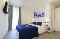 Deluxe Room with Blue Accents