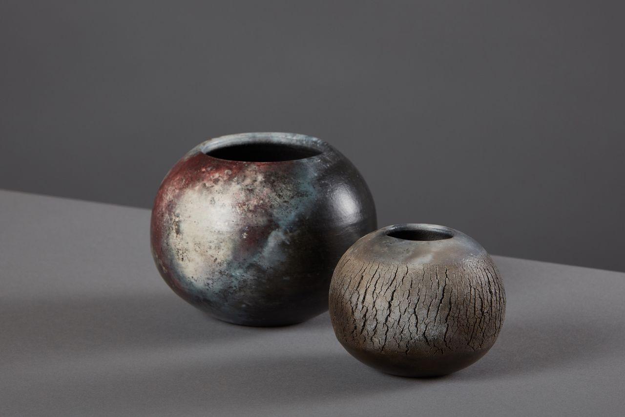 Stunning dark ceramic bowls.
