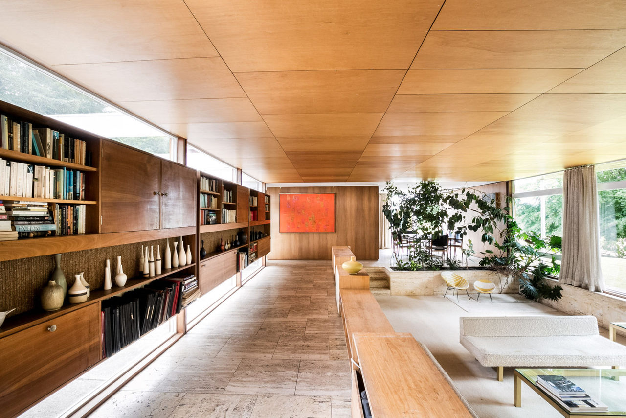 The stylish and elegant interior of Bernat Klein's house.