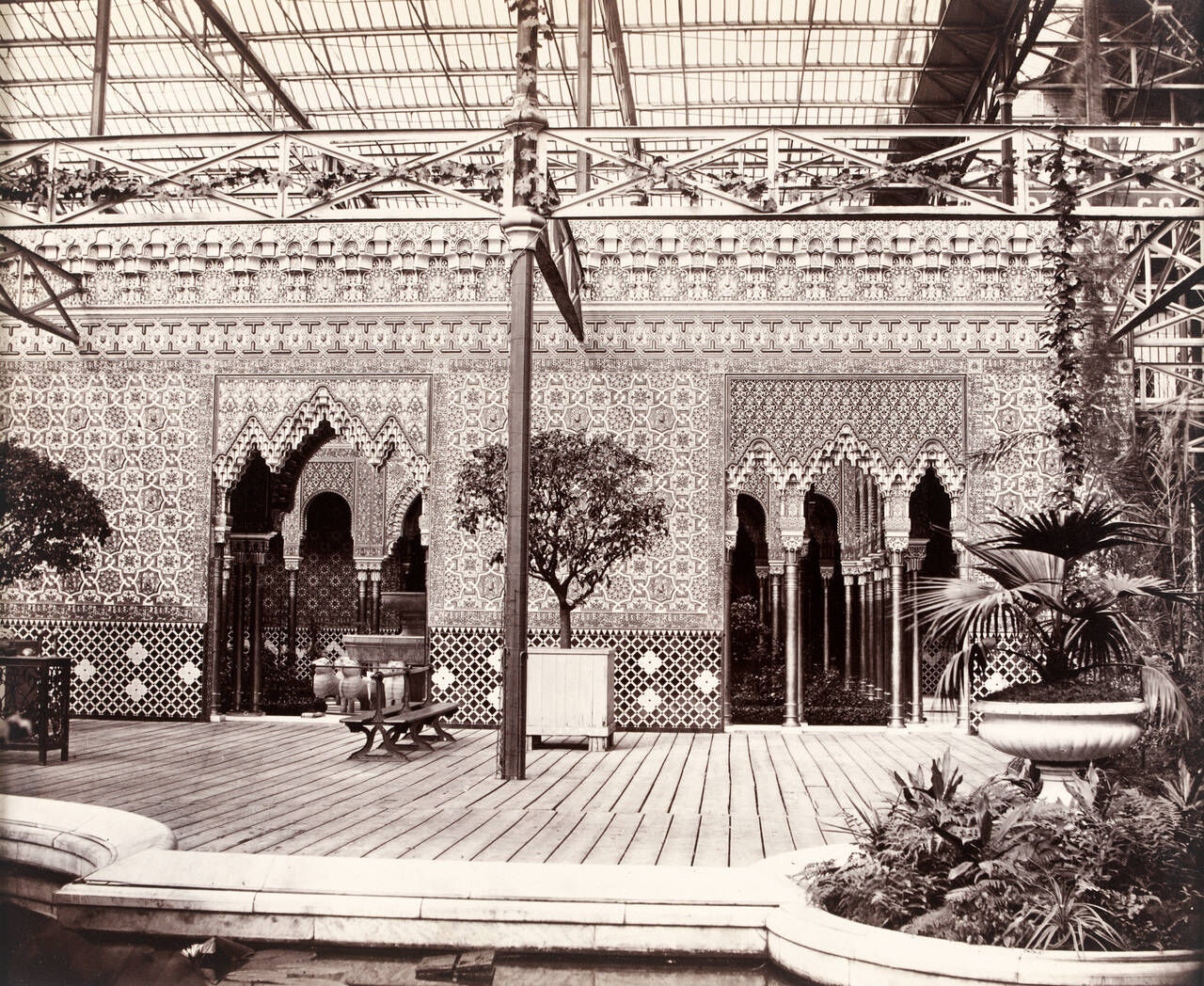 The Alhambra Court at Crystal Palace, south London.