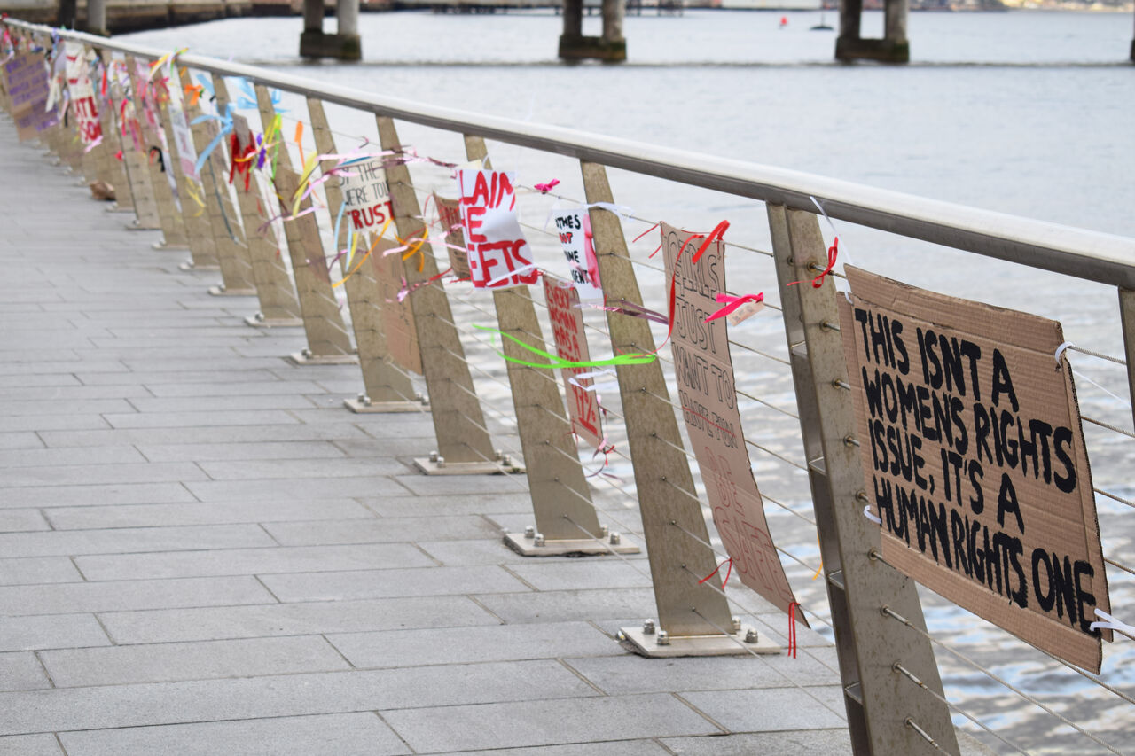 The signs were left by members of the public
