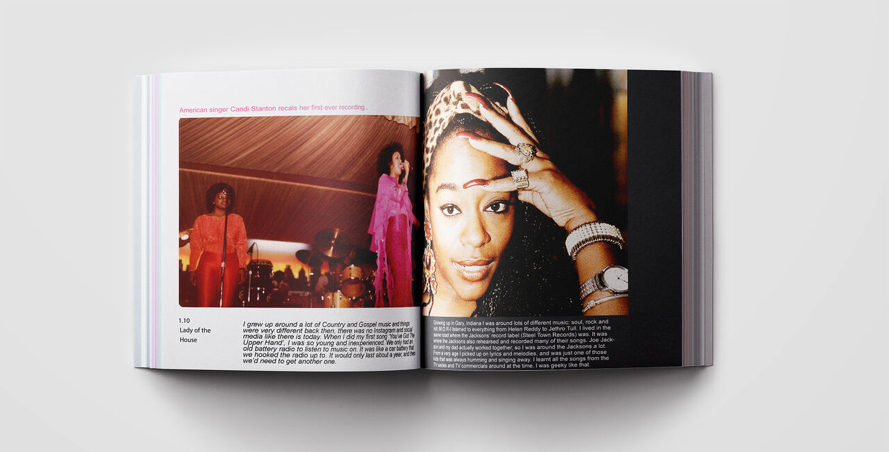 Pages of the Lady of the House book featuring Candi Staton