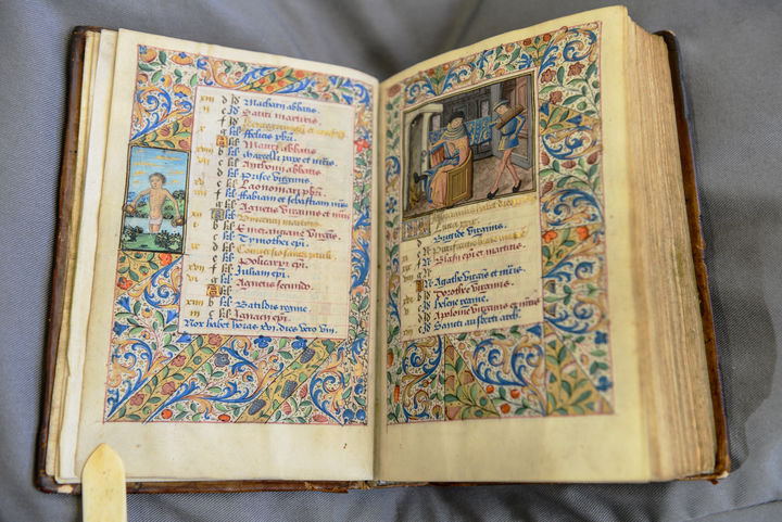 A beautifully and intricately illustrated book from the 1480s containing psalms.