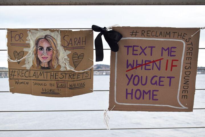 Banner depicting Sarah Everard