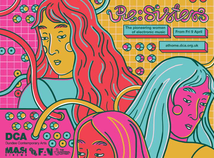 Illustration of women in electronic music