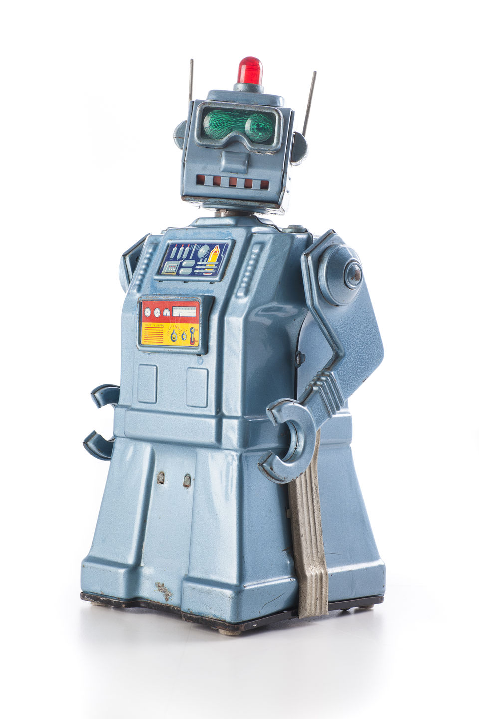 A metal toy robot from the 50s.