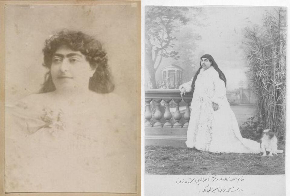 Archive images of Princesses Fatemeh Khanom and Zahra Khanom Tadj es-Saltaneh