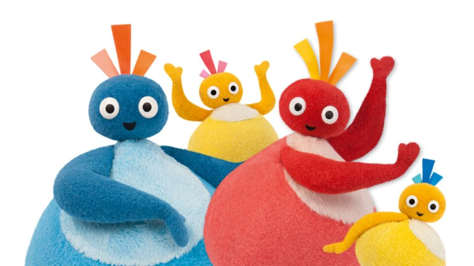 The characters Great Big Hoo, Toodleoo, Chickedy and Chick from pre-school programme Twirlywoos