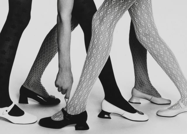 Mary Quant tights and shoes, c. 1965 / Image courtesy Mary Quant Archive / Victoria and Albert Museum, London