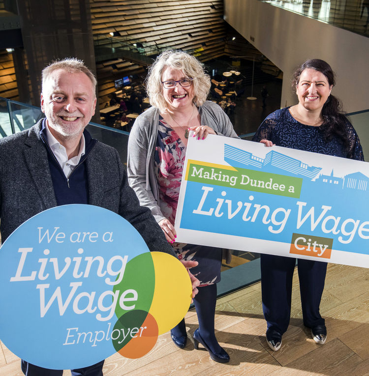 From left to right: Philip Long, Director of V&A Dundee; Alison Henderson, Chief Executive of Dundee and Angus Chamber of Commerce; Councillor Lynne Short.
