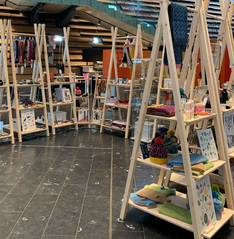 Pop-up design store within V&A Dundee