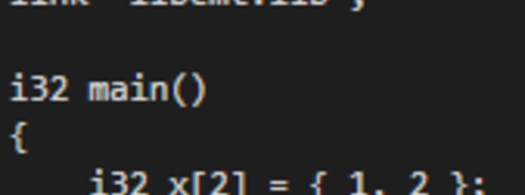 Coding example.