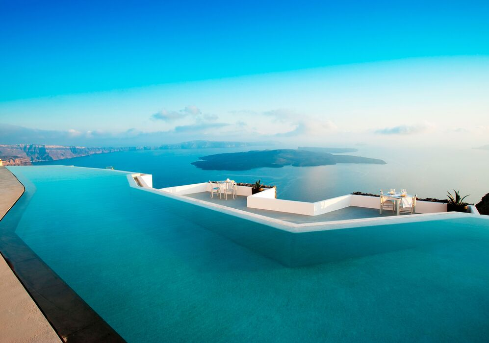 Infinity Pool at Grace Hotel Santorini
