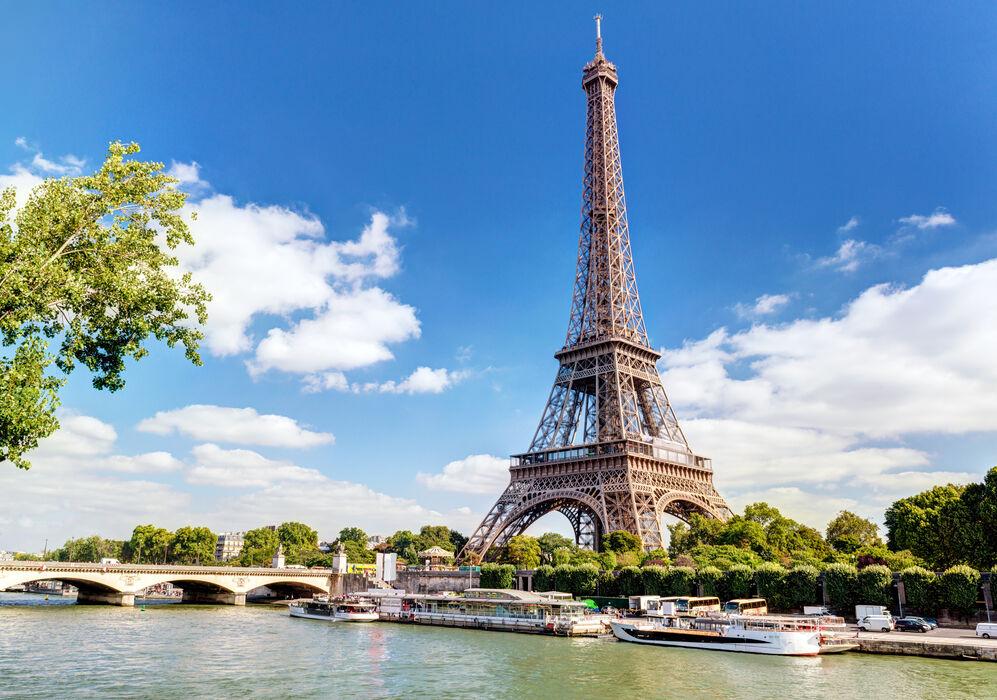 Eiffel Tower and Waterways
