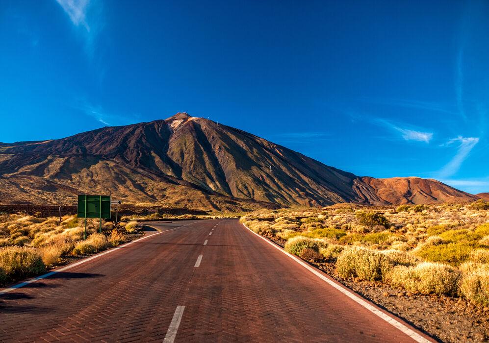 Road leading to Mount Teide, Tenerife