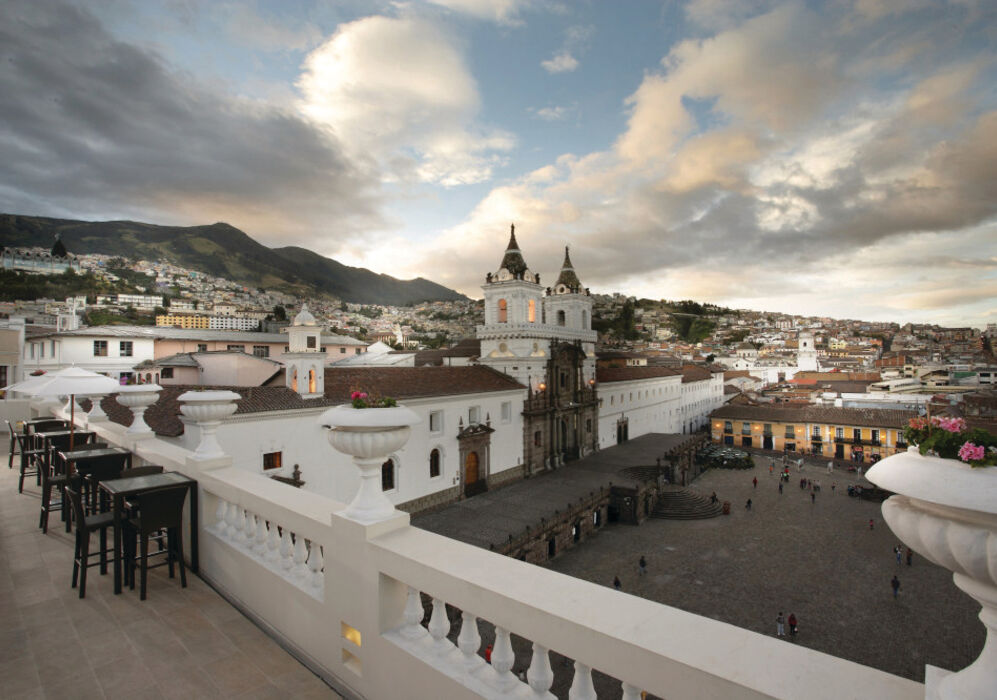 Terrace at Casa Gangotena